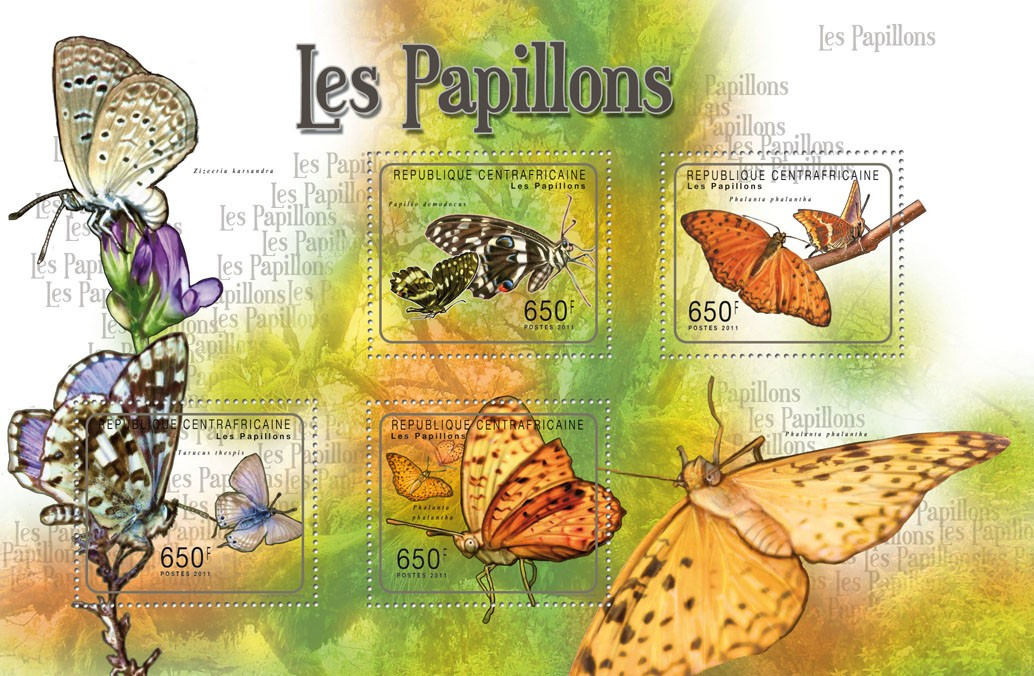 Buttreflies I. - Issue of Central African republic postage stamps