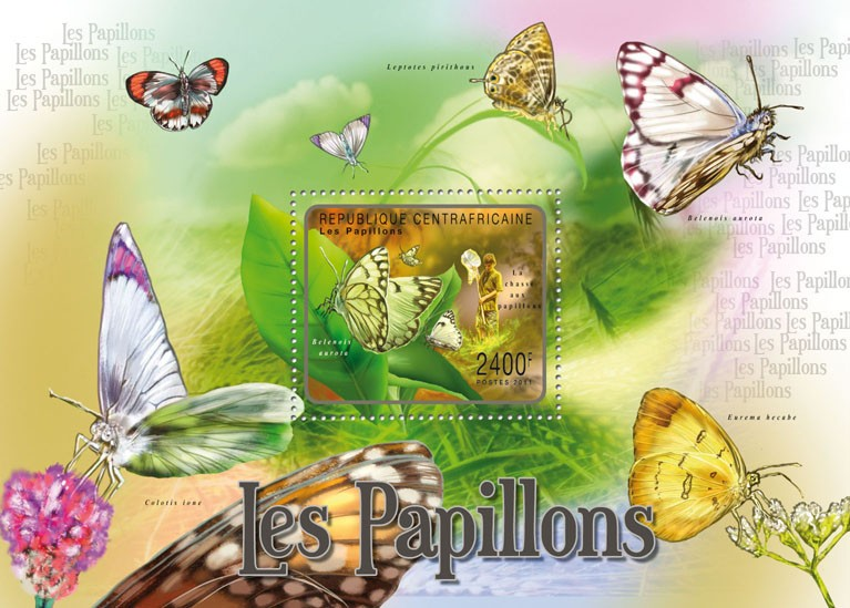 Butterflies I. - Issue of Central African republic postage stamps
