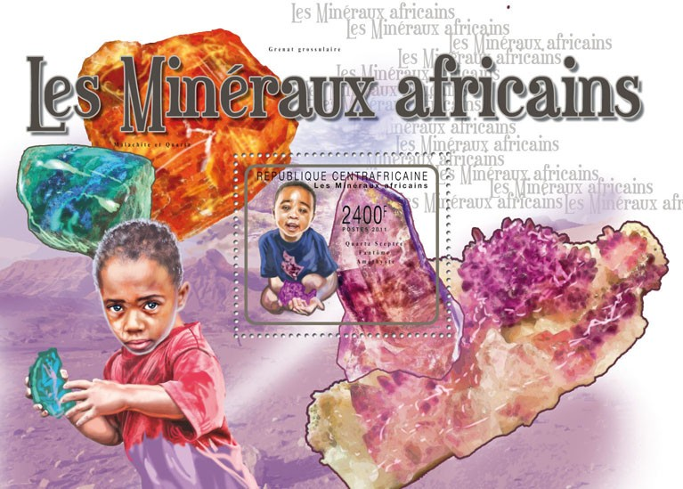 Minerals. - Issue of Central African republic postage stamps