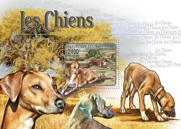 Dogs, (Azawakh Africanis). - Issue of Central African republic postage stamps