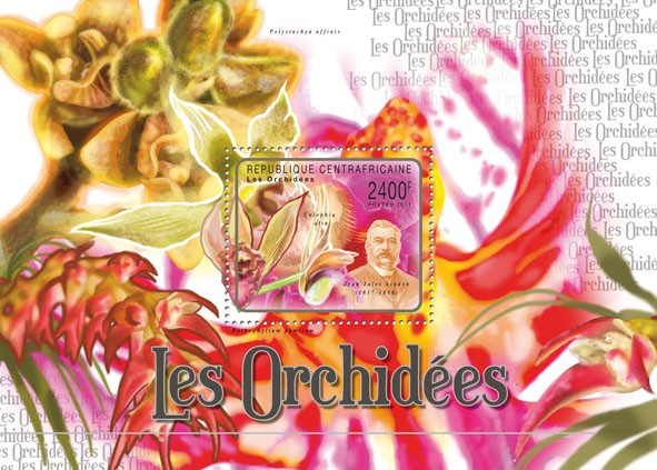 Orchids, (Jean Jules Linden). - Issue of Central African republic postage stamps