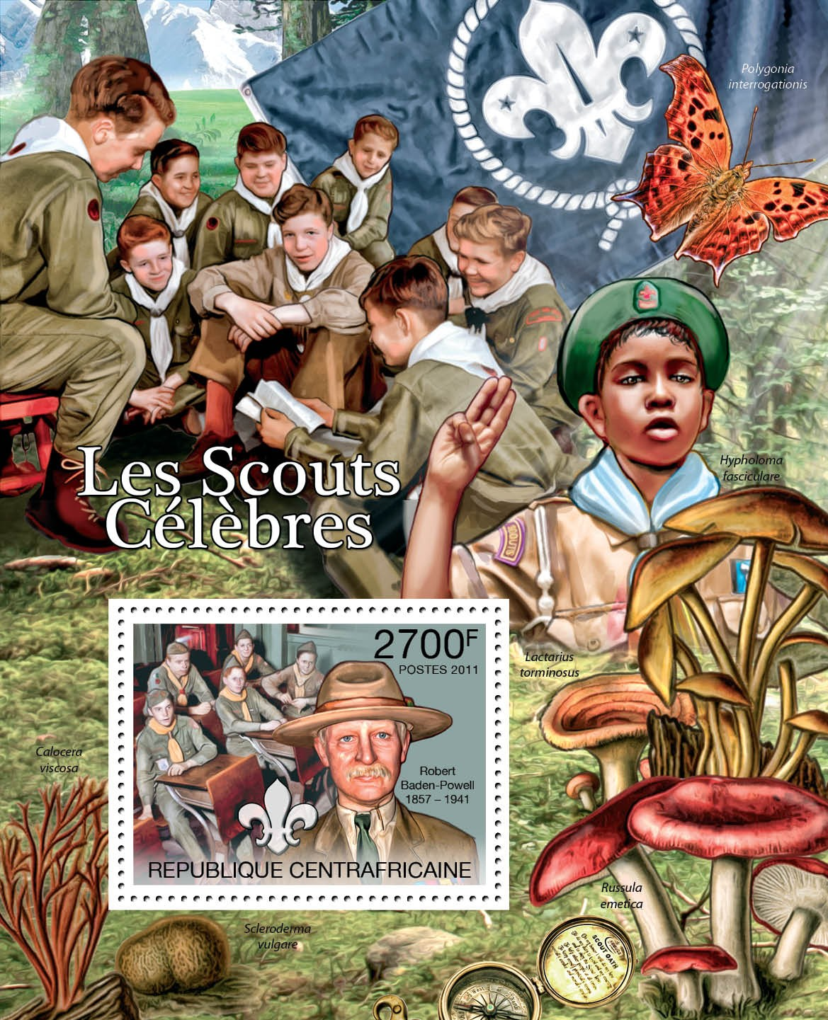 Famous Scouts, (Robert Baden-Powell). - Issue of Central African republic postage stamps