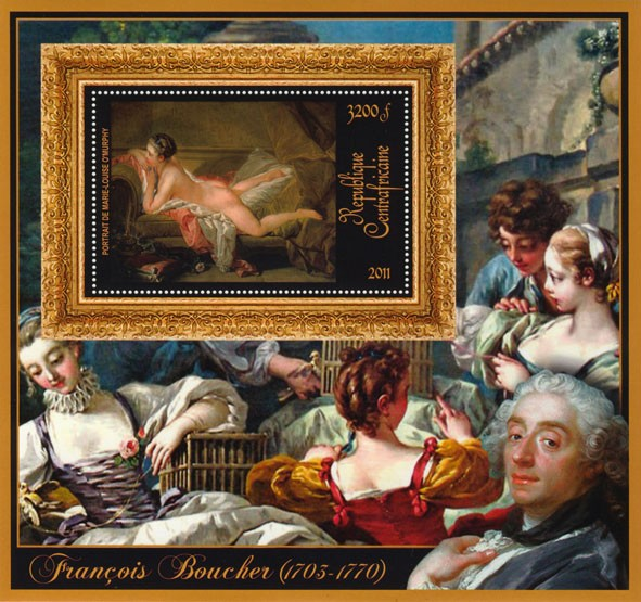Special Bock of Paintings of Francis Boucher. - Issue of Central African republic postage stamps