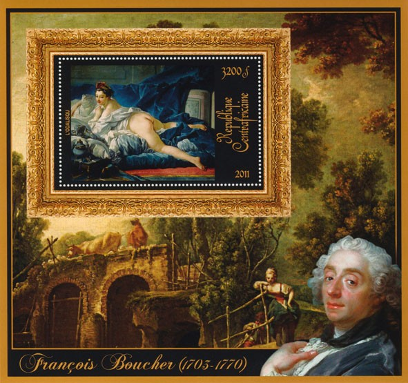 Special Bock of Paintings of Francis Boucher, - Issue of Central African republic postage stamps