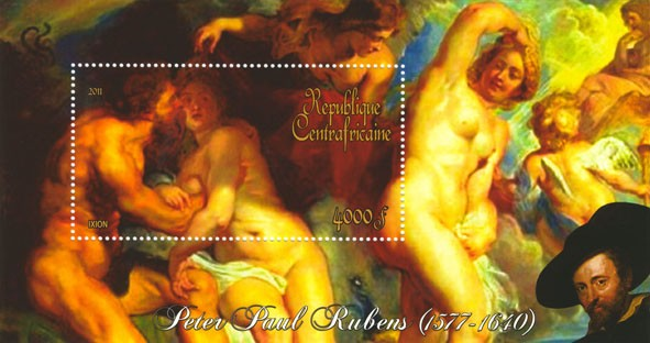 Paintings of Peter Paul Rubens, (1577-1640), (Ixion). - Issue of Central African republic postage stamps