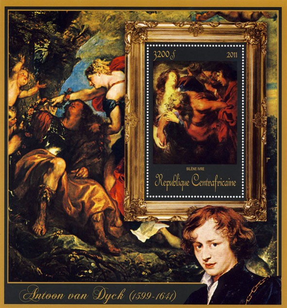 Special Block of Paintings of Antoon van Dyck,  (Silene Irve). - Issue of Central African republic postage stamps