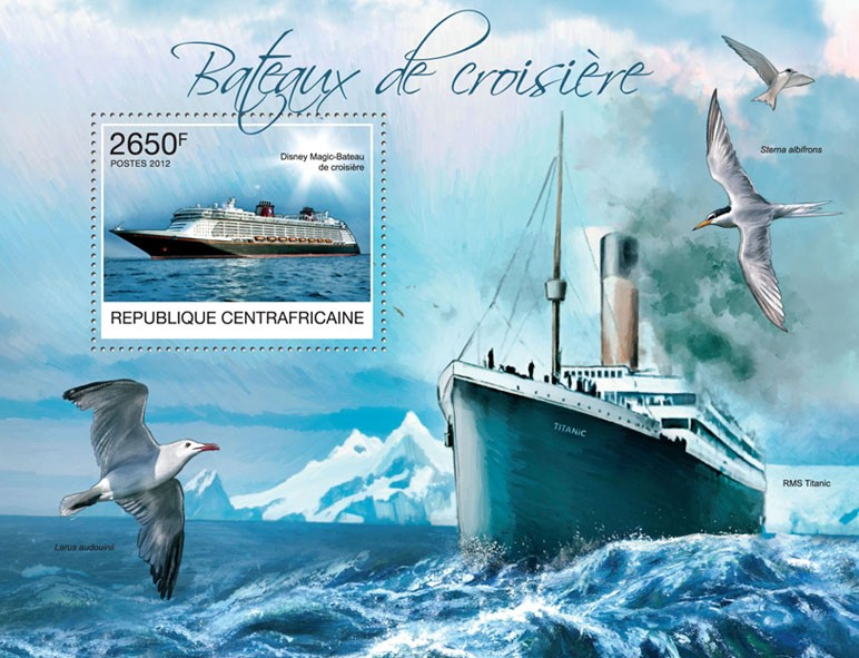 Cruise Ships, (Disney Magic). - Issue of Central African republic postage stamps