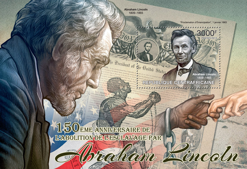 Abraham Lincoln - Issue of Central African republic postage stamps