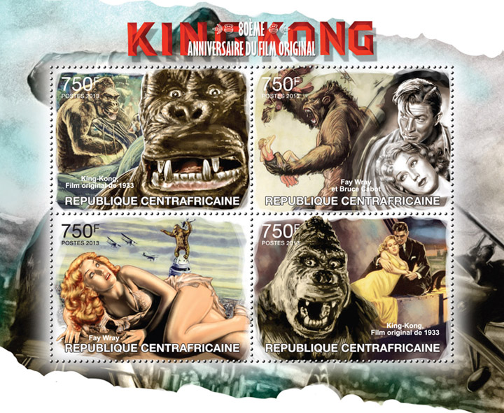 King Kong - Issue of Central African republic postage stamps