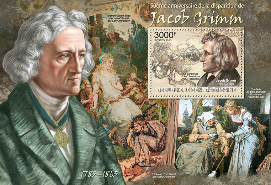 Jacob Grimm - Issue of Central African republic postage stamps
