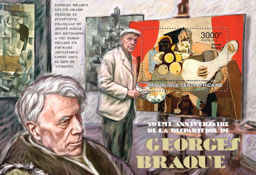 Georges Braque. - Issue of Central African republic postage stamps