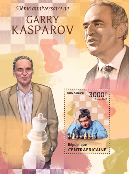 Garry Kasparov - Issue of Central African republic postage stamps