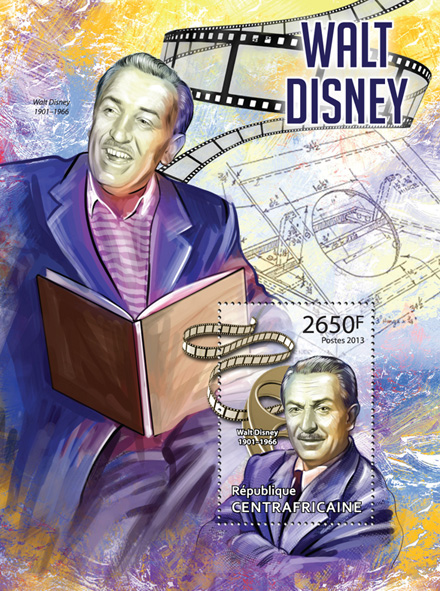 Walt Disney - Issue of Central African republic postage stamps