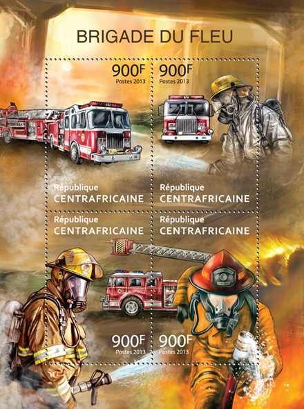 Fire Brigade. - Issue of Central African republic postage stamps