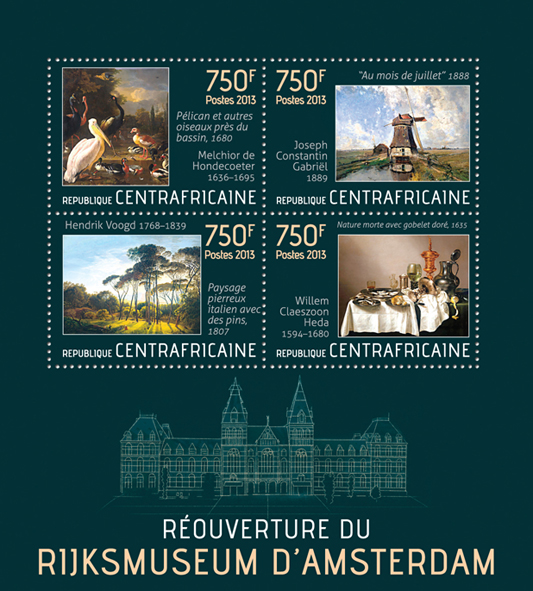 Rijksmuseum - Issue of Central African republic postage stamps