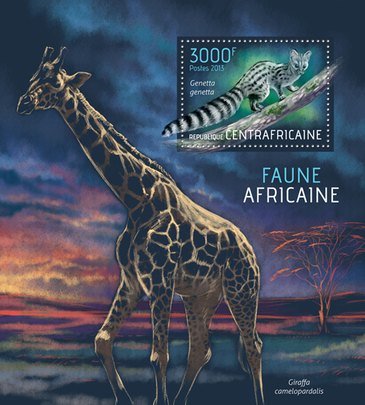 Fauna - Issue of Central African republic postage stamps