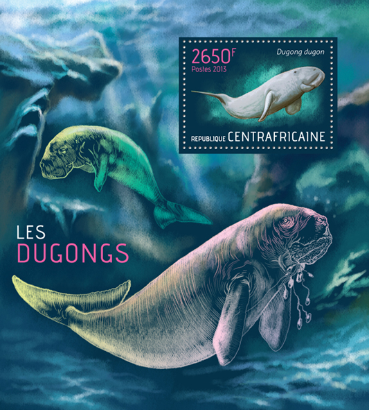 Dugongs - Issue of Central African republic postage stamps
