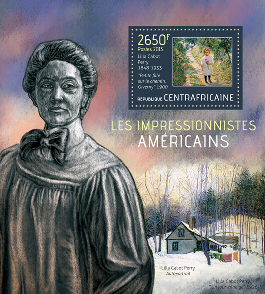 American impressionists - Issue of Central African republic postage stamps