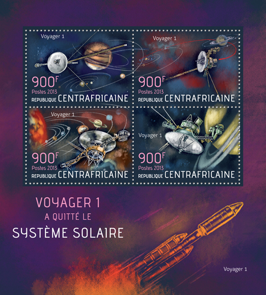Voyager 1 - Issue of Central African republic postage stamps