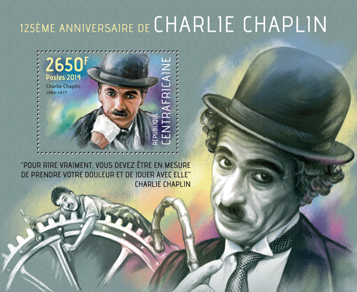 Charlie Chaplin - Issue of Central African republic postage stamps