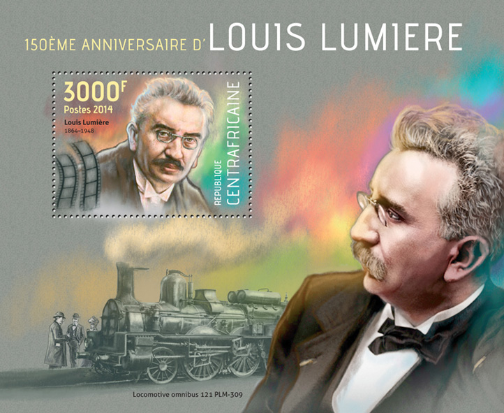 Louis Lumiere - Issue of Central African republic postage stamps