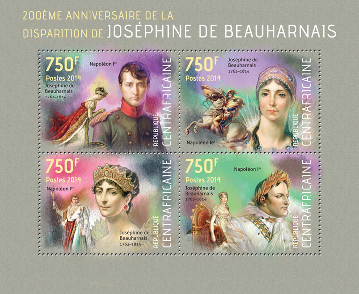 Josephine de Beauharnais - Issue of Central African republic postage stamps