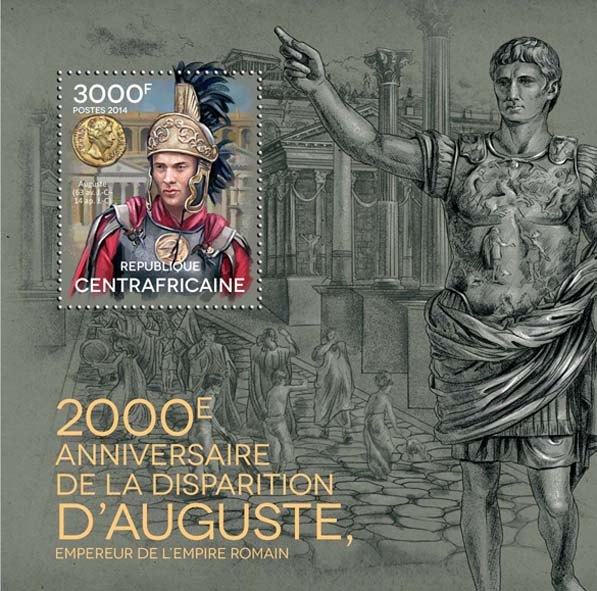 Augustus - Issue of Central African republic postage stamps