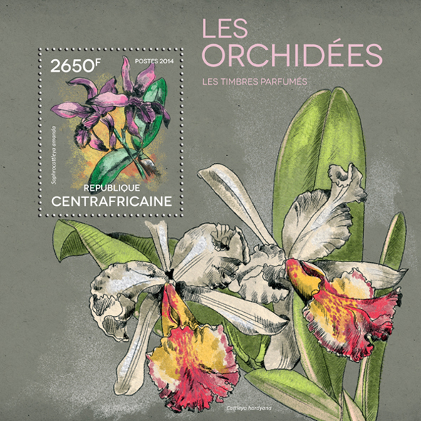 Orchids – Perfumed - Issue of Central African republic postage stamps