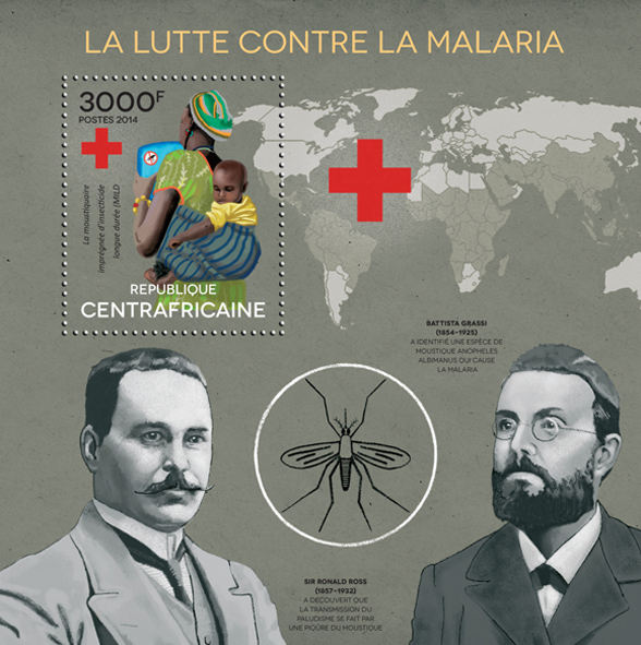 Malaria - Issue of Central African republic postage stamps