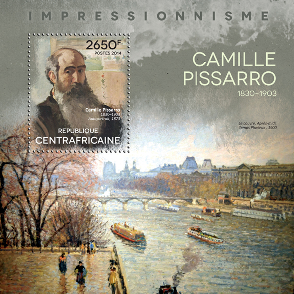 Camille Pissaro - Issue of Central African republic postage stamps