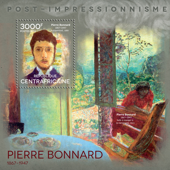 Pierre Bonnard - Issue of Central African republic postage stamps