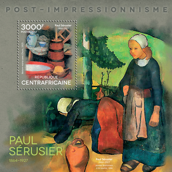 Paul Sérusier  - Issue of Central African republic postage stamps