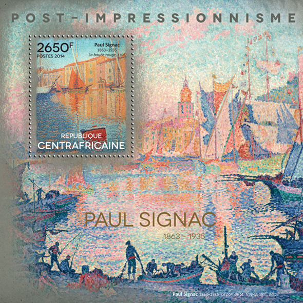 Paul Signac - Issue of Central African republic postage stamps
