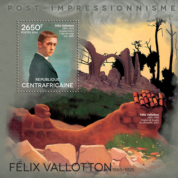 Félix Vallotton - Issue of Central African republic postage stamps