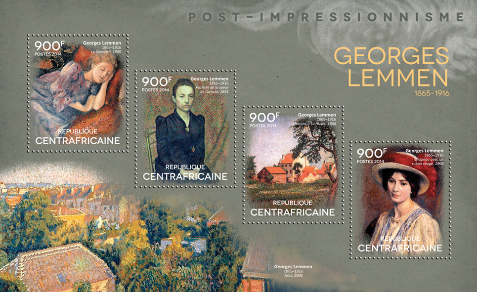 Georges Lemmen - Issue of Central African republic postage stamps
