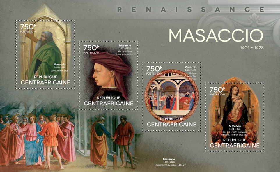 Massacio - Issue of Central African republic postage stamps