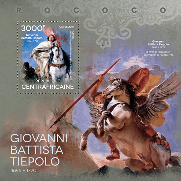 Giovani Battista Tiepolo - Issue of Central African republic postage stamps