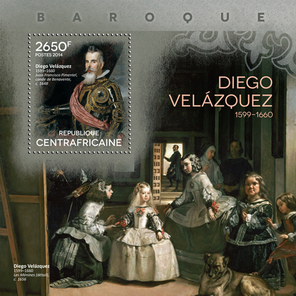 Diego Velázquez  - Issue of Central African republic postage stamps