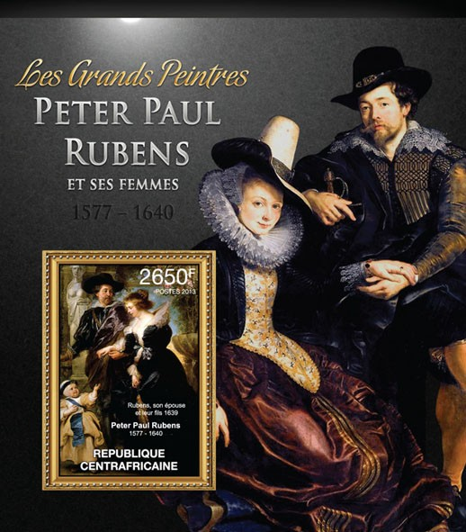 Rubens and his women - Issue of Central African republic postage stamps