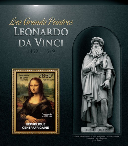 Leonardo da Vinci - Issue of Central African republic postage stamps