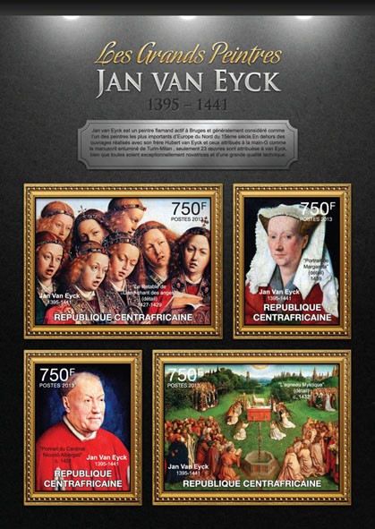 Jan Van Eyck - Issue of Central African republic postage stamps