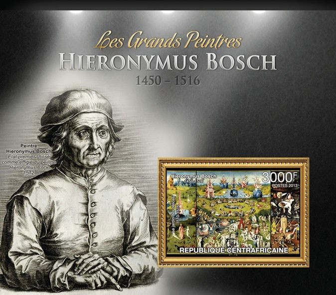 Hieronymus Bosch - Issue of Central African republic postage stamps