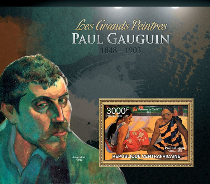 Paul Gauguin - Issue of Central African republic postage stamps