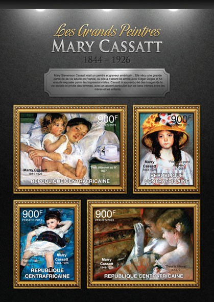Mary Cassat - Issue of Central African republic postage stamps