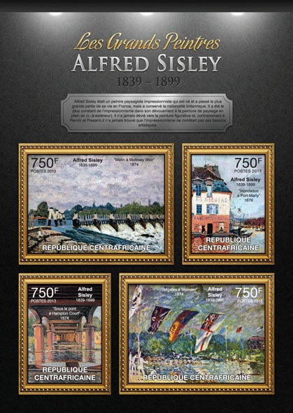 Alfred Sisley - Issue of Central African republic postage stamps