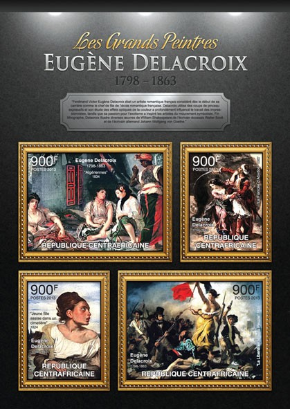Eugene Delacoix - Issue of Central African republic postage stamps