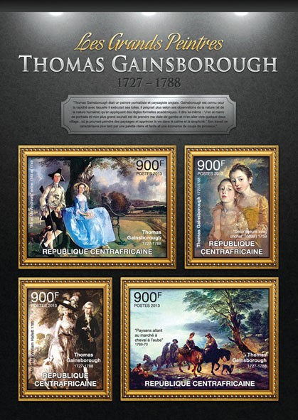 Thomas Gainsborough - Issue of Central African republic postage stamps