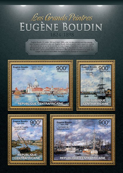 Eugene Boudin - Issue of Central African republic postage stamps