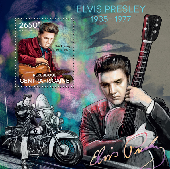 Elvis Presley - Issue of Central African republic postage stamps