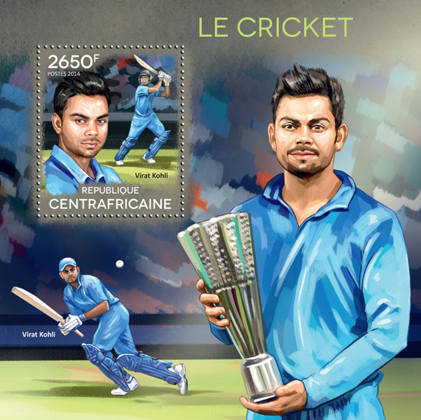 Cricket - Issue of Central African republic postage stamps